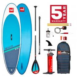 """Доска SUP надувная для серфинга Red Paddle PACKAGE - 8'10"""" WHIP CN50"""